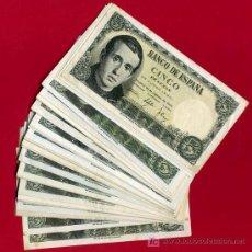 Billetes españoles: LOTE DE 32 BILLETES DE 5 PESETAS 1951 , MBC+ , . Lote 25625365