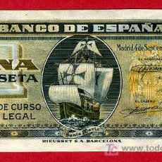 Billetes españoles: BILLETE 1 PESETA 1940 SEPTIEMBRE , SIN CIRCULAR PLANCHA, SERIE G , T815. Lote 24956272