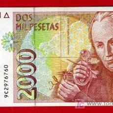 Billetes españoles: BILLETE 2000 PESETAS 1992 , MBC , SERIE ESPECIAL 9C , T760. Lote 25078762