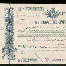 Billetes españoles: PAGARES DEL BANCO DE ESPAÑA. SIGLO XX.. Lote 19784206