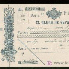 Billetes españoles: PAGARES DEL BANCO DE ESPAÑA. SIGLO XX.. Lote 19784207
