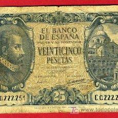 Billetes españoles: BILLETE 25 PESETAS 1940 , MBC-- ,SERIE C , T251. Lote 26745392