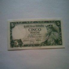 Billetes españoles: BILLETE 5 PESETAS 22 JULIO 1954. Lote 27433719