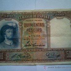Billetes españoles: BILLETE 500 PESETAS 1931. Lote 27433718