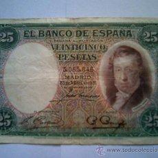 Billetes españoles: BILLETE 25 PESETAS 1931. Lote 27459896