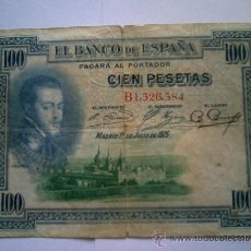 Billetes españoles: BILLETE 100 PESETAS 1925. Lote 27481854