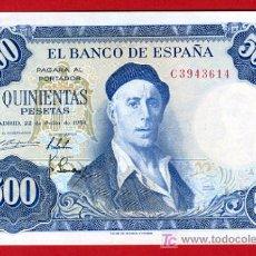 Billetes españoles: BILLETE 500 PESETAS 1954 , EBC , SERIE C , T614. Lote 26243768