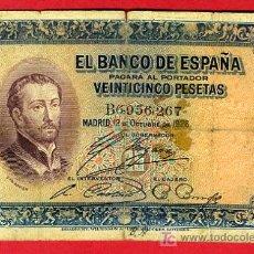Billetes españoles: BILLETE 25 PESETAS 1926 , BC ,SERIE B , T267. Lote 26243794