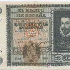 Billetes españoles: 500 PESETAS-09-01-1940-EBC+. Lote 19400254
