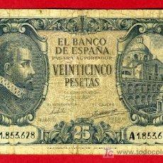 Billetes españoles: BILLETE 25 PESETAS 1940 , MBC- , SERIE A , T628. Lote 27051061