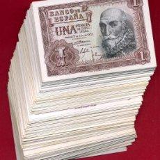 Billetes españoles: LOTE DE 125 BILLETES DE 1 PESETA 1953 EBC , NO HAN CIRCULADO , DIFERENTES SERIES. Lote 25625353