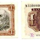 Billetes españoles: BILLETE DE 1 PESETA, MARQUÉS DE SANTA CRUZ. Lote 144054201