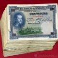Billetes españoles: LOTE DE 100 BILLETES DE 100 PESETAS 1925 , MBC, ORIGINALES,. Lote 94028617