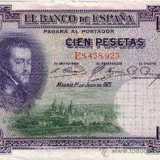 Billetes españoles: BILLETE 100 PESETAS FELIPE II. 1925, SE ENVIA EL DE LA FOTO. Lote 26980823