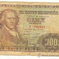 Billetes españoles: 100 PESETAS 1948 BAYEU SERIE C. Lote 27401509
