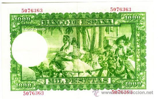 Billetes españoles: 1000 PTS 1951 SIN SERIE EBC+ - Foto 2 - 26868783