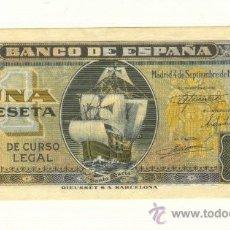 Billetes españoles: PLANCHA SIN CIRCULAR PESETA 4 SEPTIEMBRE 1940 CARABELA SANTA MARÍA. SERIE H. MUY BONITA. . Lote 22362700