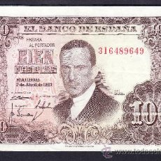 Billetes españoles: .BILLETE ESPAÑA 1953 - 100 PTA JULIO ROMERO DE TORRES SERIE 3I MBC, . Lote 22906294
