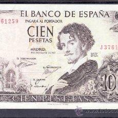 Billetes españoles: .BILLETE ESPAÑA 1965 - 100 PTA GUSTAVO ADOLFO BECQUER SERIE J LIGERO DOBLEZ. Lote 22908838