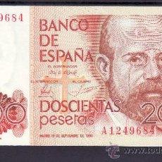 Billetes españoles: .BILLETE ESPAÑA 1980 - 200 PTA LEOPOLDO ALAS -CLARIN- SERIE A PLANCHA, . Lote 22908972