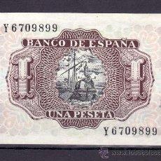 Billetes españoles: .BILLETE ESPAÑA 1953 - 1 PTA MARQUES DE SANTA CRUZ SERIE Y SIN CIRCULAR,. Lote 169917165