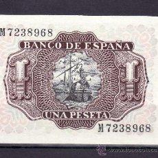 Billetes españoles: .BILLETE ESPAÑA 1953 - 1 PTA MARQUES DE SANTA CRUZ SERIE M SIN CIRCULAR,. Lote 169432293