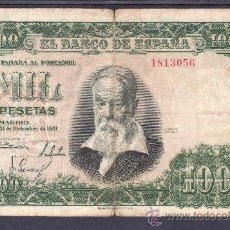 Billetes españoles: .BILLETE ESPAÑA 1951 - 1000 PTA JOAQUIN SOROLLA SIN SERIE BC, . Lote 22910528