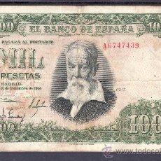 Billetes españoles: .BILLETE ESPAÑA 1951 - 1000 PTA JOAQUIN SOROLLA SERIE A BC, . Lote 22910531