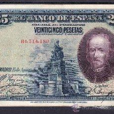 Billetes españoles: .BILLETE ESPAÑA 1928 - 25 PTA CALDERON DE LA BARCA SERIE B USADO,. Lote 22939949