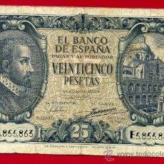 Billetes españoles: BILLETE 25 PESETAS 1940 , MBC- , SERIE E , T863. Lote 22874966