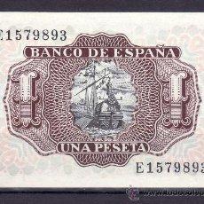 Billetes españoles: .BILLETE ESPAÑA 1953 - 1 PTA MARQUES DE SANTA CRUZ SERIE E SIN CIRCULAR,. Lote 169432200