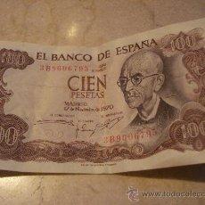 Billetes españoles: BILLETE 100 PESETAS 1970 SERIE 3B. Lote 23342132