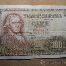Billetes españoles: BILLETE DE 100 PESETAS AÑO 1948 - FCO BAYEU. Lote 27380799