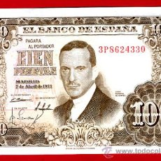 Billetes españoles: BILLETE 100 PESETAS 1953 , MBC+ , SERIE 3P , T330. Lote 23820802