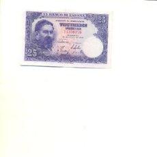Billetes españoles: 25 PESETAS/ ALBENIZ/ 22 JULIO 1954/ TOQUE DE PLANCHA. Lote 26905650