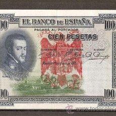 Billetes españoles: 100 PESETAS 1925 RESELLO TAPON ROJO AGUILA IMPERIAL. Lote 114722524