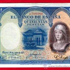 Billetes españoles: BILLETE 500 PESETAS 1927 , MBC+, SIN SERIE , T989. Lote 24316915