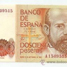 Billetes españoles: 200 PESETAS 1980 SIN CIRCULAR. Lote 26893591
