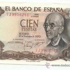 Billetes españoles: 100 PESETAS 1970 SC. Lote 26942016