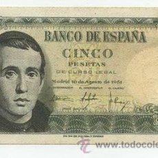 Billetes españoles: 5 PESETAS 1951. Lote 26942019
