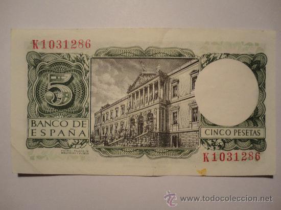 BILLETE DE 5 PESETAS,1954,BANCO DE ESPAÑA