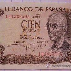 Billetes españoles: BILLETE 100 PESETAS MANUEL DE FALLA 1970. Lote 26678496