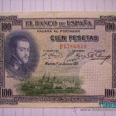 Billetes españoles: BILLETE 100 PESETAS FELIPE II 1925. Lote 26679062