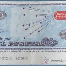 Billetes españoles: VALE 1000 PTAS - GALERIAS PRECIADOS. Lote 27476961