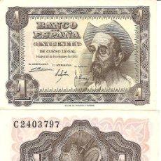 Billetes españoles: TRES BILLETES DE 1 PESETA, DON QUIJOTE, 1951. Lote 27634719