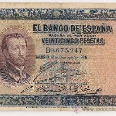 Billetes españoles: 25 PESETAS DE 1926 SERIE B-247 ALFONSO XIII. Lote 28557837