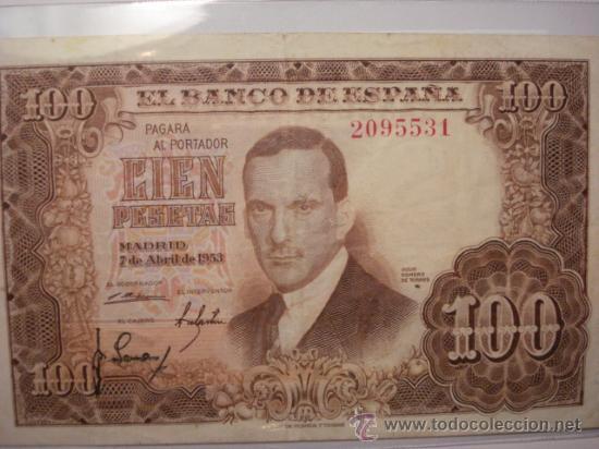 Rarisimo billete de 100 pesetas sin serie romer comprar billetes antiguos espa oles en - Libros antiguos mas buscados ...