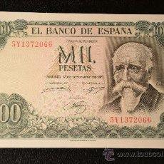 Billetes españoles: 1000 PESETAS 17 SEPTIEMBRE 1971 - ECHEGARAY - SIN CIRCULAR - SERIE 5Y. Lote 28749931