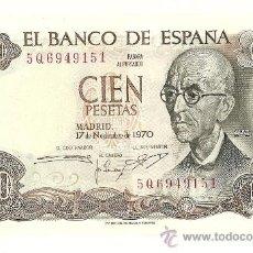 Billetes españoles: TRES BILLETES CORRELATIVOS DE CIEN PESETAS. EFIGIE MANUEL DE FALLA. 1970. Lote 193046015