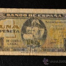 Billetes españoles: 1 PESETA 4 SEPTIEMBRE 1940 / SERIE H. Lote 28782120